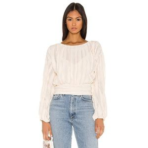 Line & Dot Ivory Janet Top NWT!